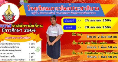 รับสมัครนักเรียนชั้น ม.1, ม.4 ปีการศึกษา 2564